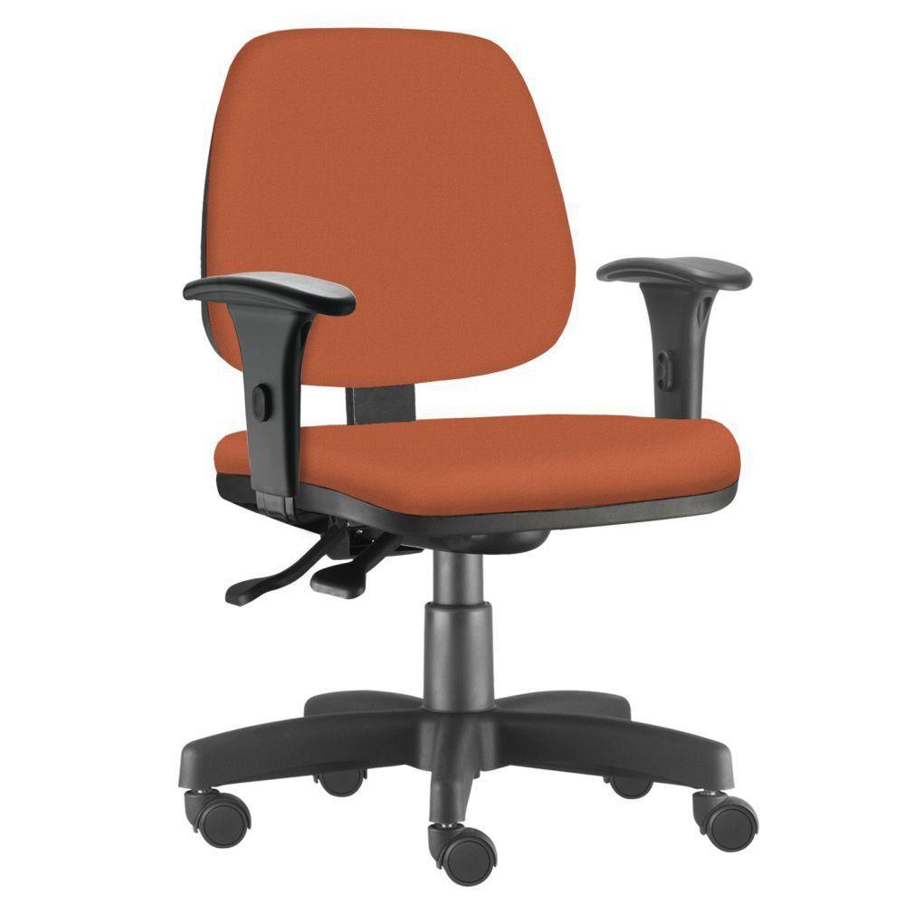Cadeira Giratória Job L02 Executiva Ergonômica Escritório Suede Laranja - Lyam Decor