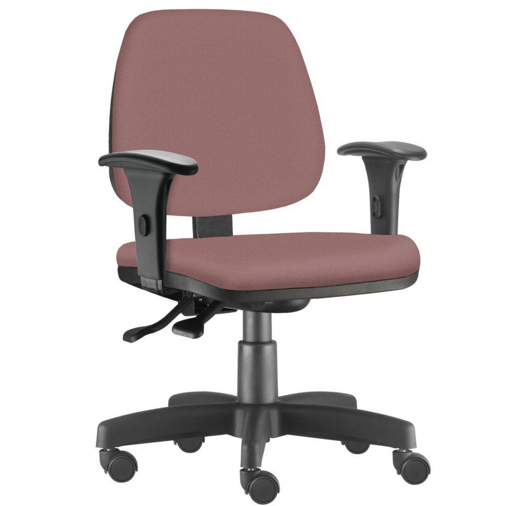 Cadeira Giratória Job L02 Executiva Ergonômica Escritório Suede Rosê - Lyam Decor