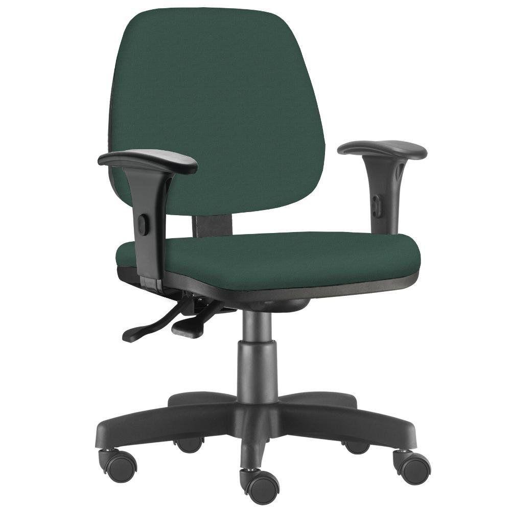 Cadeira Giratória Job L02 Executiva Ergonômica Escritório Crepe Verde Musgo - Lyam Decor