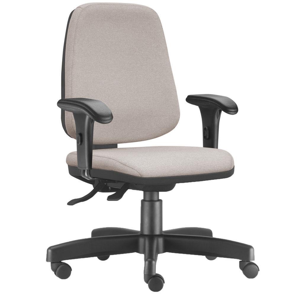 Cadeira Giratória Job L02 Diretor Executiva Linho Bege - Lyam Decor