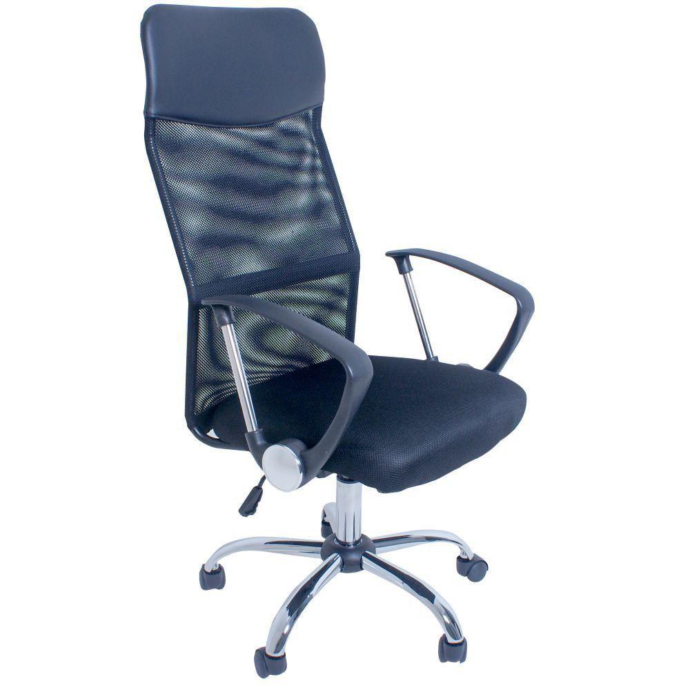 Cadeira Giratória Para Escritório Excellence Office F03 Preto - Lyam Decor