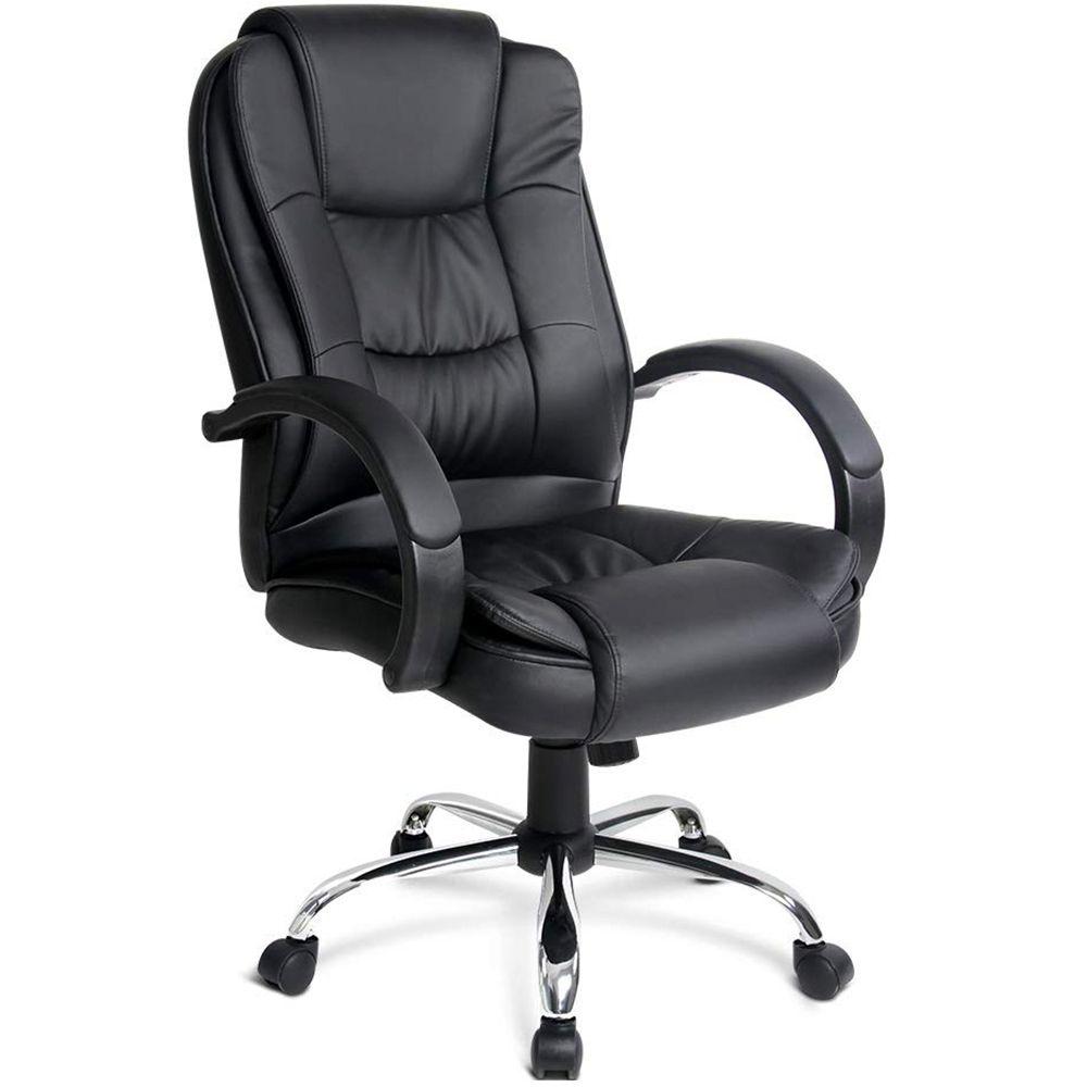 Cadeira Giratória Para Escritório Confort Office F03 Preto - Lyam Decor