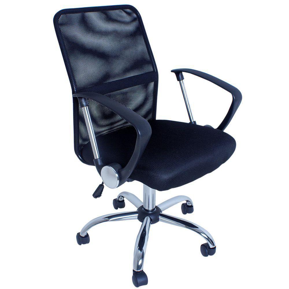 Cadeira Giratória Para Escritório Premier Office F03 Preto - Lyam Decor