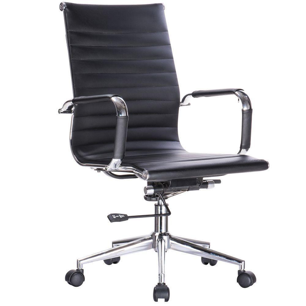Cadeira Giratória Para Escritório Resolute Office F03 Preto - Lyam Decor