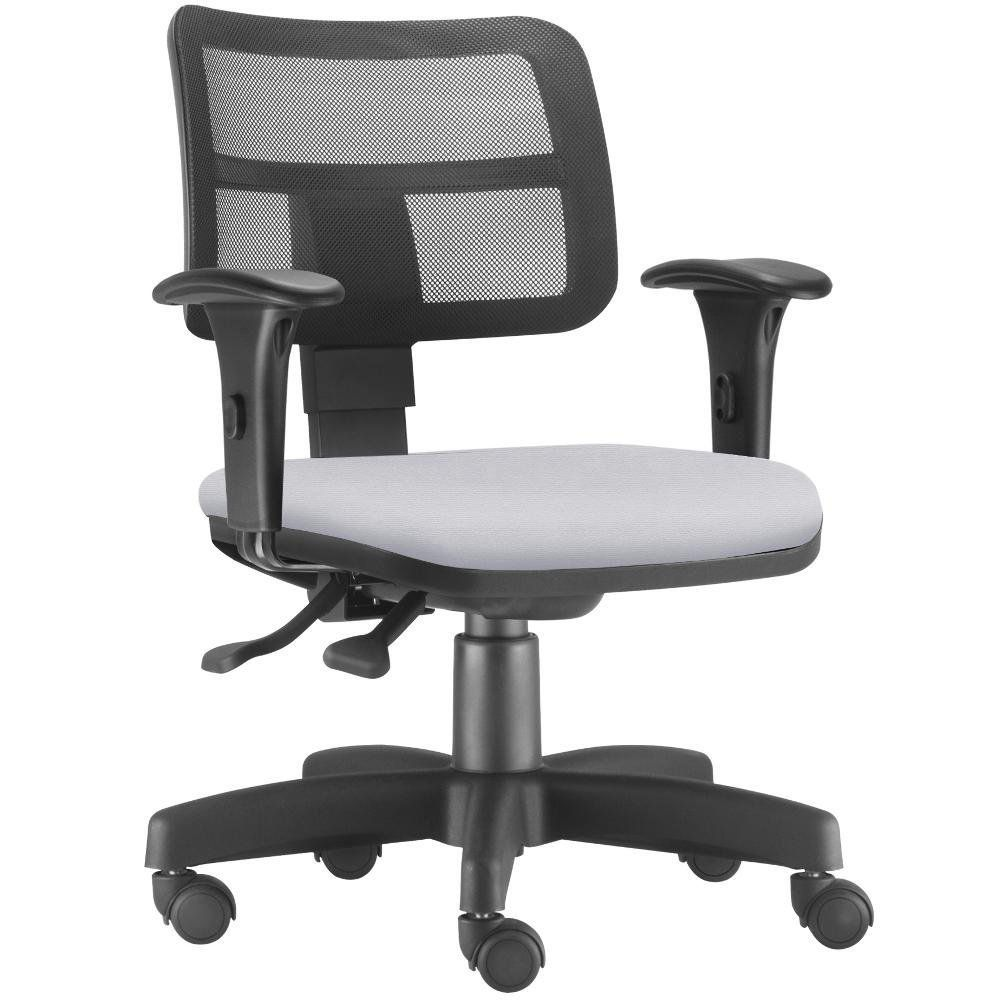 Cadeira Giratória Zip L02 Executiva Ergonômica Escritório Couro Sintético Branco - Lyam Decor