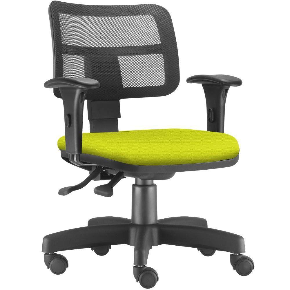 Cadeira Giratória Zip L02 Executiva Ergonômica Escritório Suede Amarelo - Lyam Decor