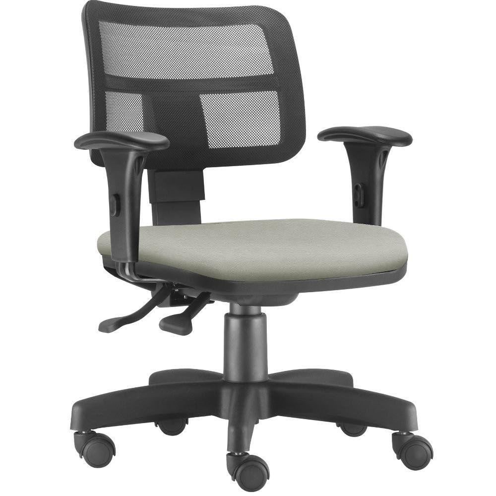 Cadeira Giratória Zip L02 Executiva Ergonômica Escritório Suede Bege - Lyam Decor