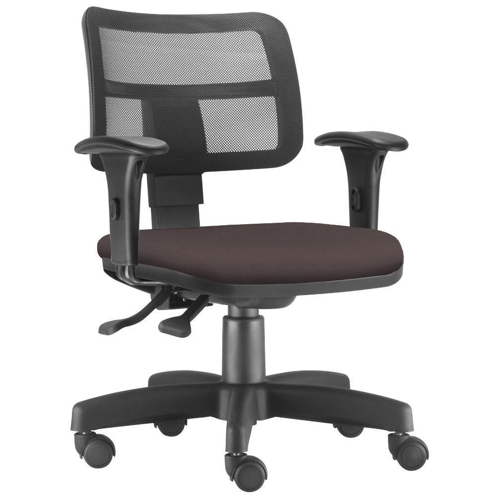 Cadeira Giratória Zip L02 Executiva Ergonômica Escritório Suede Marrom - Lyam Decor