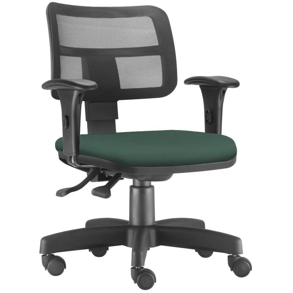 Cadeira Giratória Zip L02 Executiva Ergonômica Escritório Crepe Verde Musgo - Lyam Decor