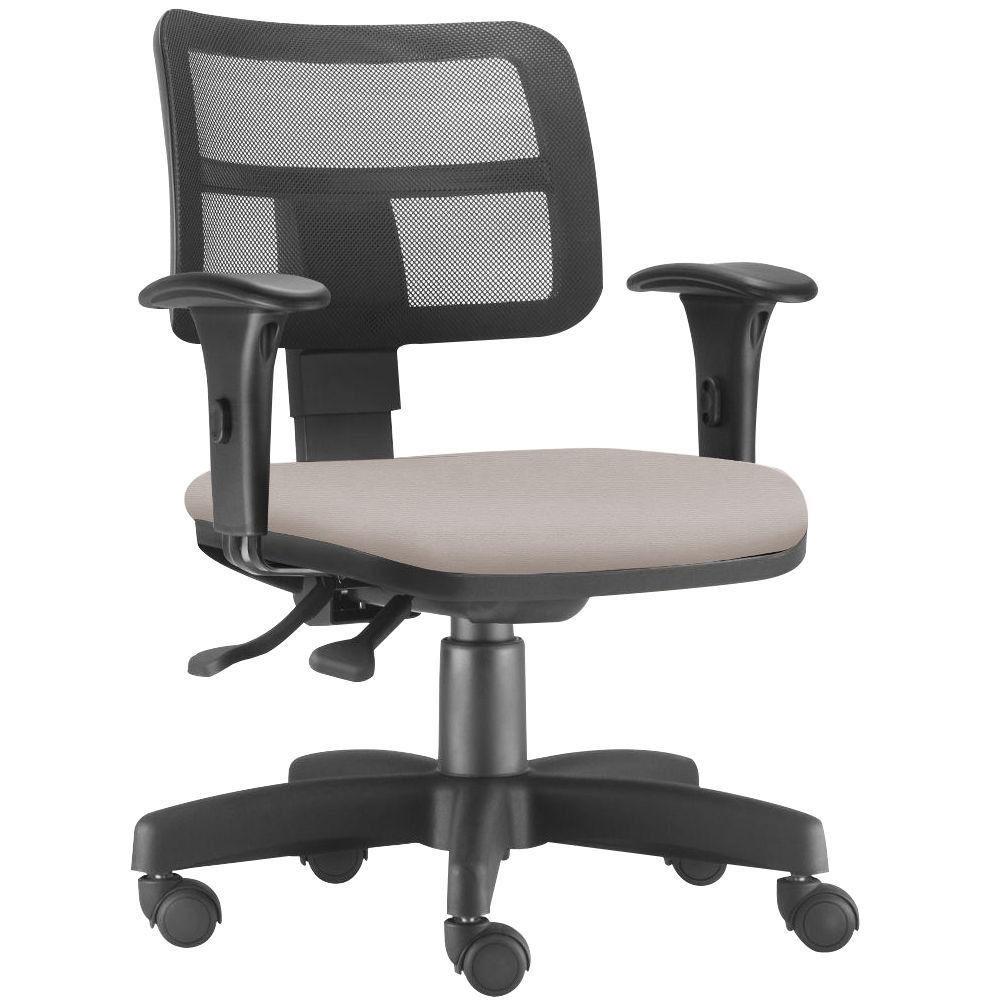 Cadeira Giratória Zip L02 Executiva Ergonômica Escritório Linho Bege - Lyam Decor