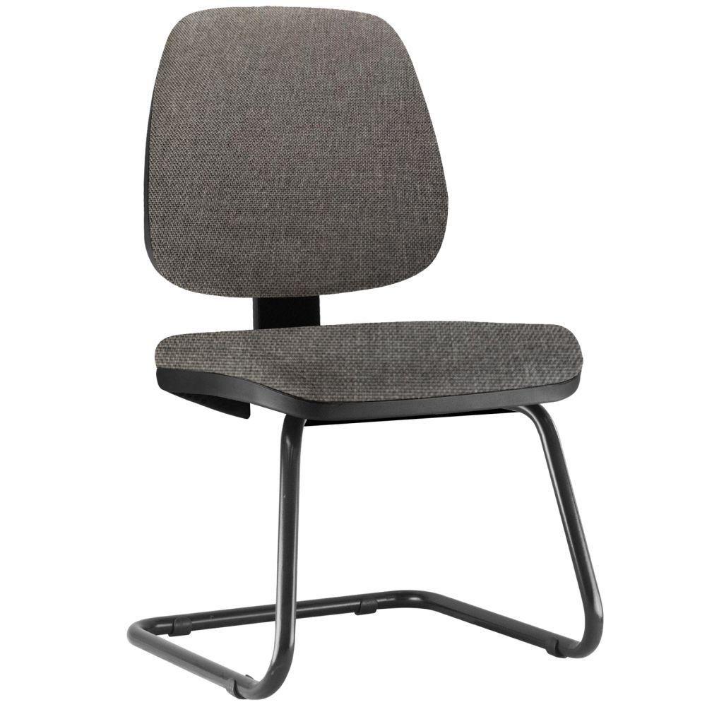 Cadeira Para Escritório Job L02 Fixa Linho Cinza Escuro - Lyam Decor