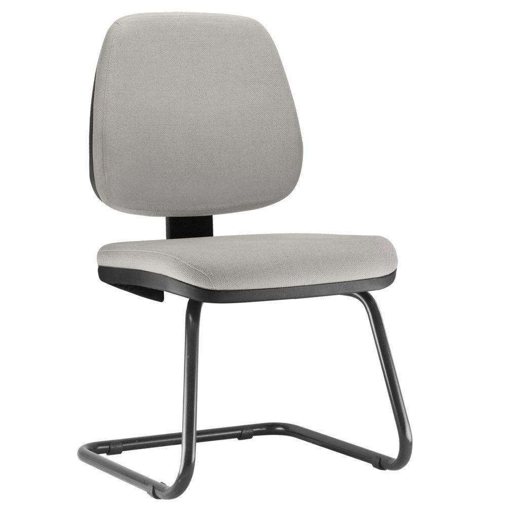 Cadeira Para Escritório Job L02 Fixa Linho Cinza - Lyam Decor