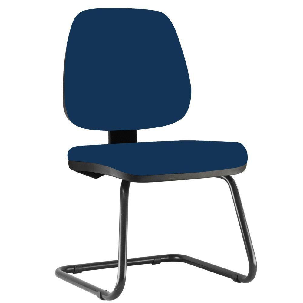 Cadeira Para Escritório Job L02 Fixa Crepe Azul Marinho - Lyam Decor