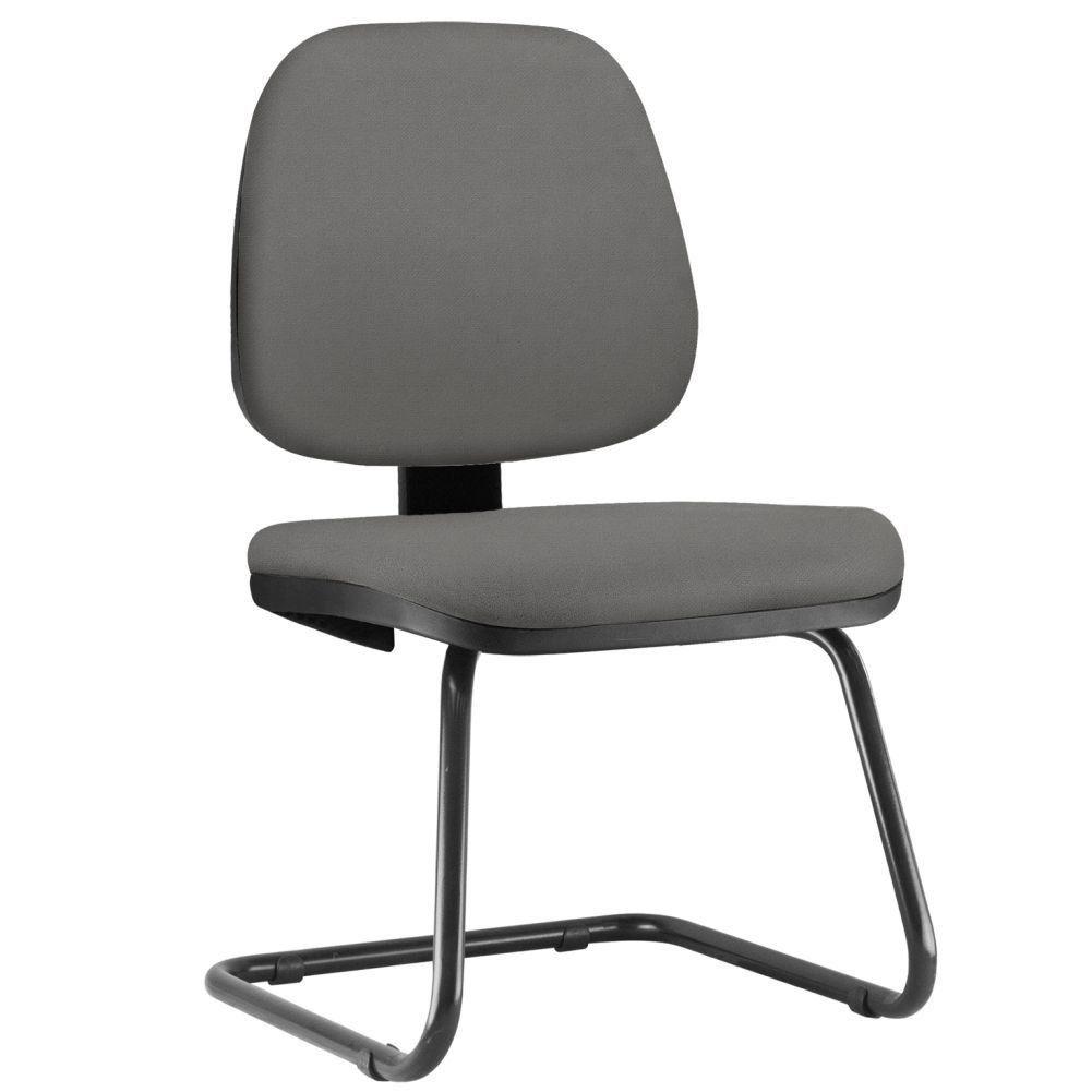 Cadeira Para Escritório Job L02 Fixa Crepe Cinza - Lyam Decor