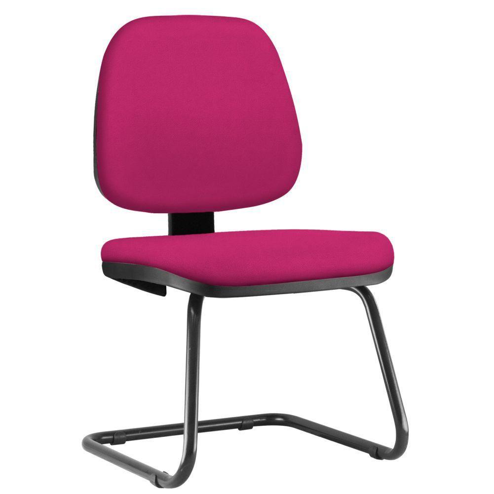 Cadeira Para Escritório Job L02 Fixa Suede Pink - Lyam Decor