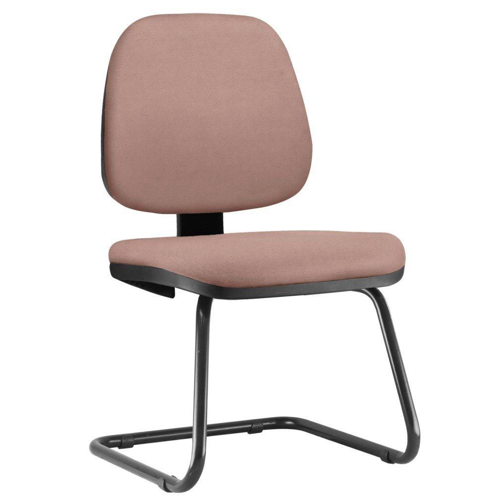 Cadeira Para Escritório Job L02 Fixa Suede Rosê - Lyam Decor