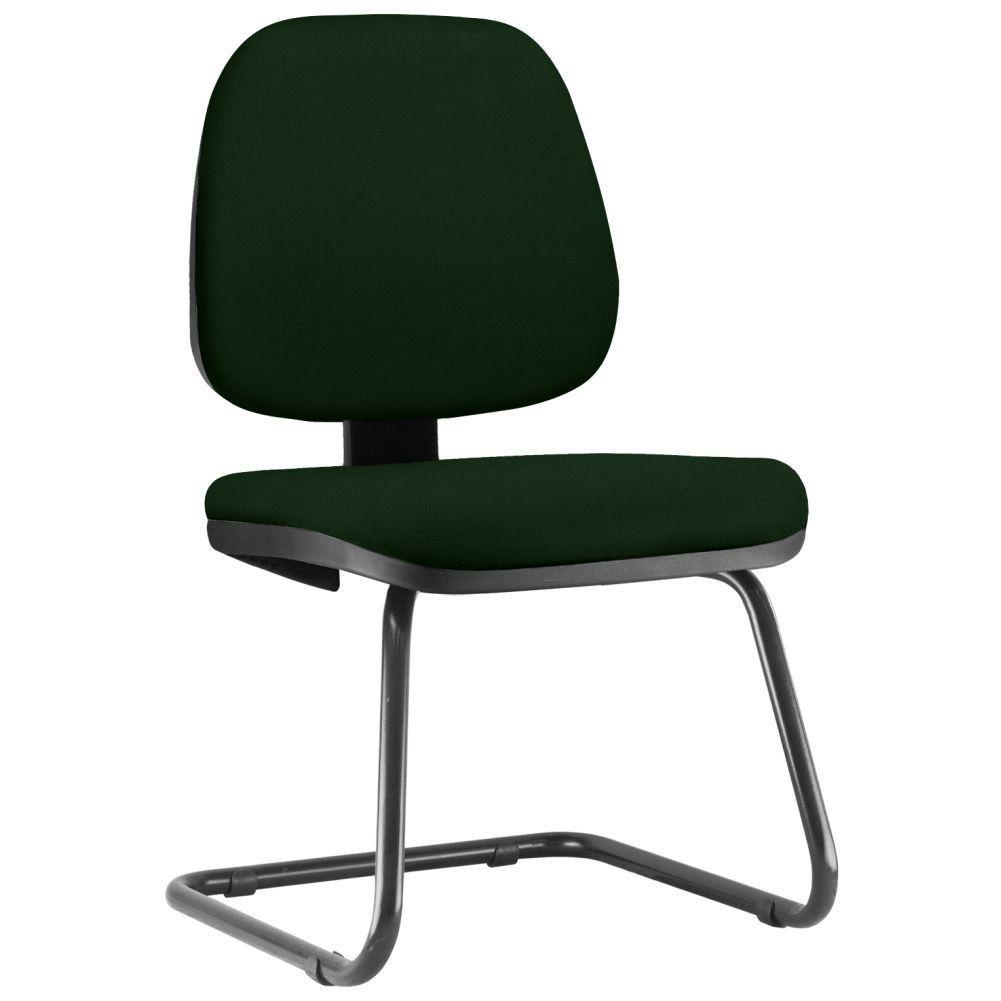 Cadeira Para Escritório Job L02 Fixa Crepe Verde Musgo - Lyam Decor