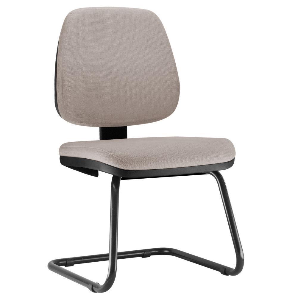 Cadeira Para Escritório Job L02 Fixa Linho Bege - Lyam Decor