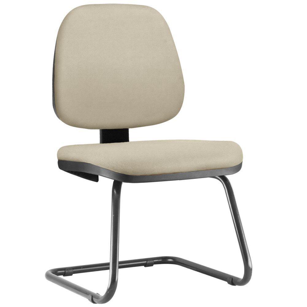 Cadeira Para Escritório Job L02 Fixa Suede Bege - Lyam Decor