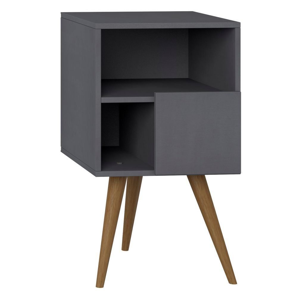Mesa De Cabeceira com Porta Retrô Espresso - Be Mobiliário