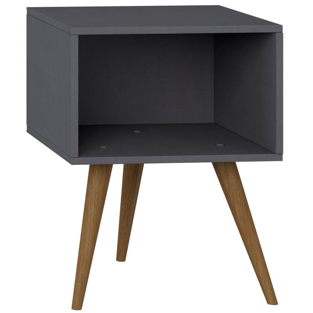 Mesa de Cabeceira Retrô Espresso - Be Mobiliário