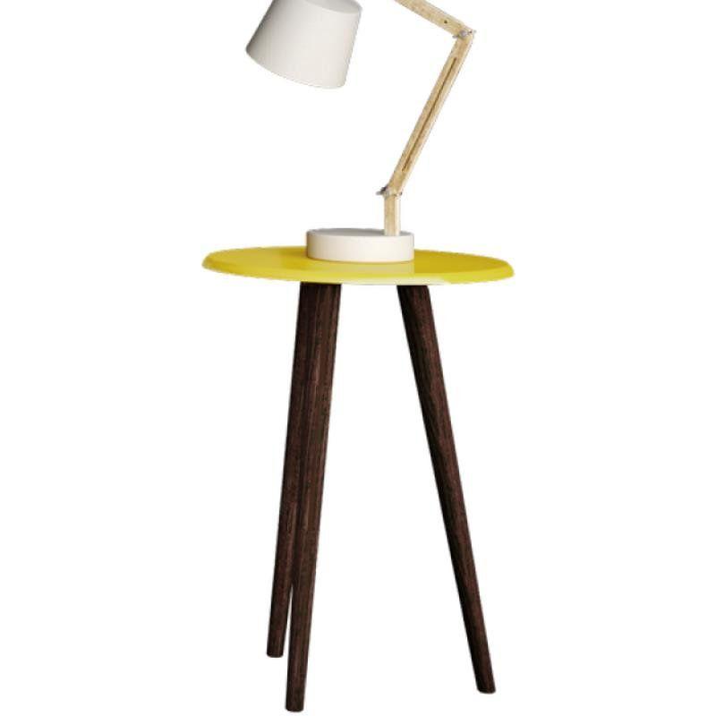 Mesa de Apoio Decorativa B02 Amarelo Brilho - Lyam Decor