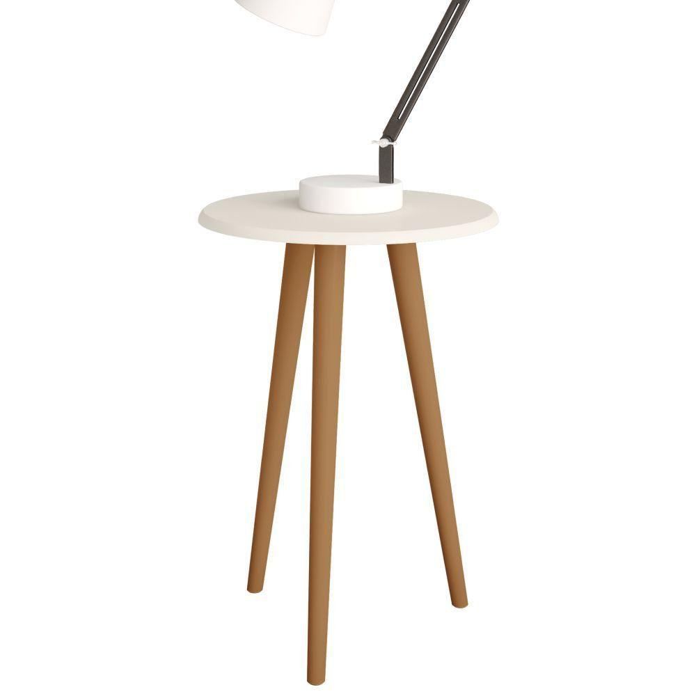 Mesa de Apoio Decorativa B02 Off White Brilho - Lyam Decor