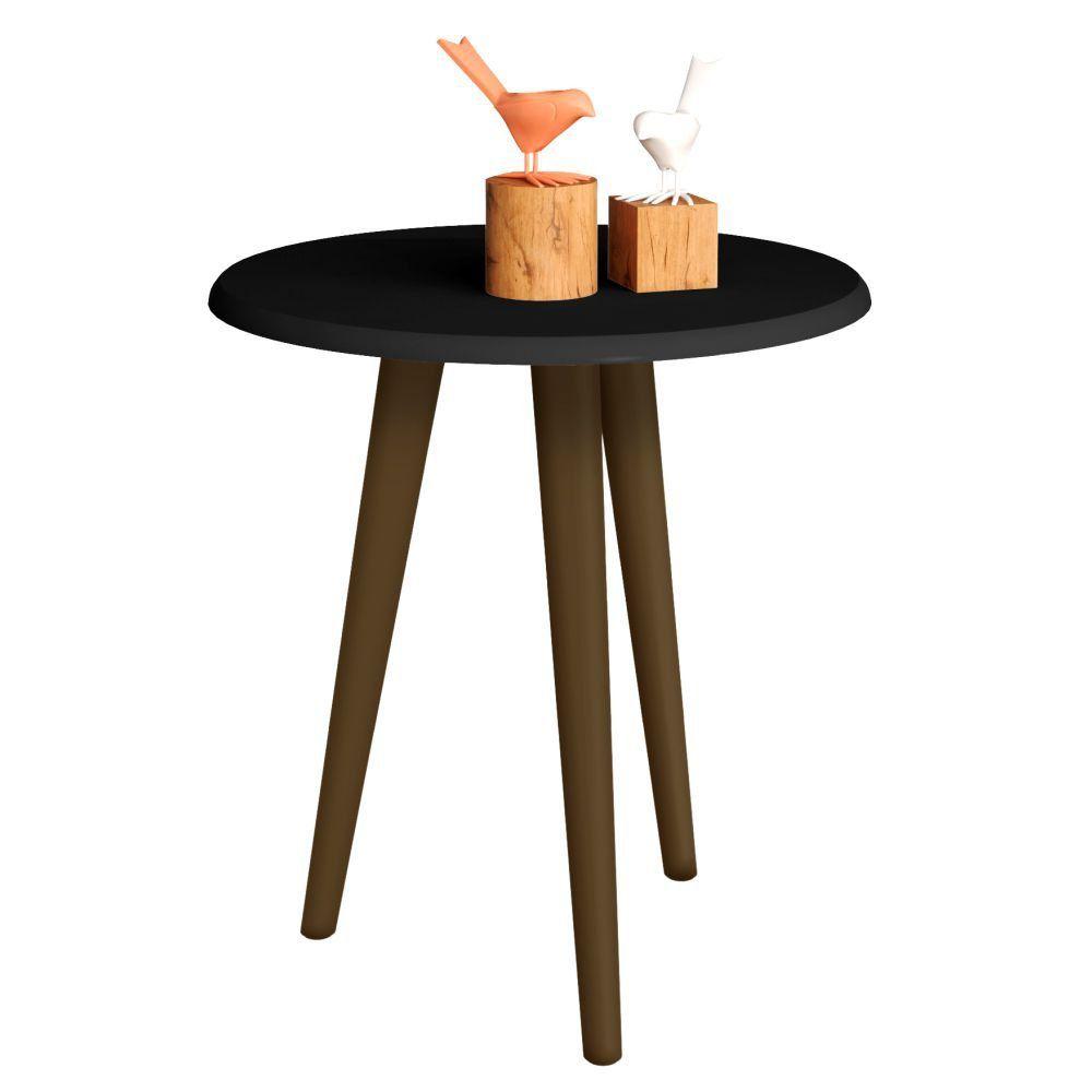 Mesa de Canto Lateral B02 Decorativa Preto Fosco - Lyam Decor