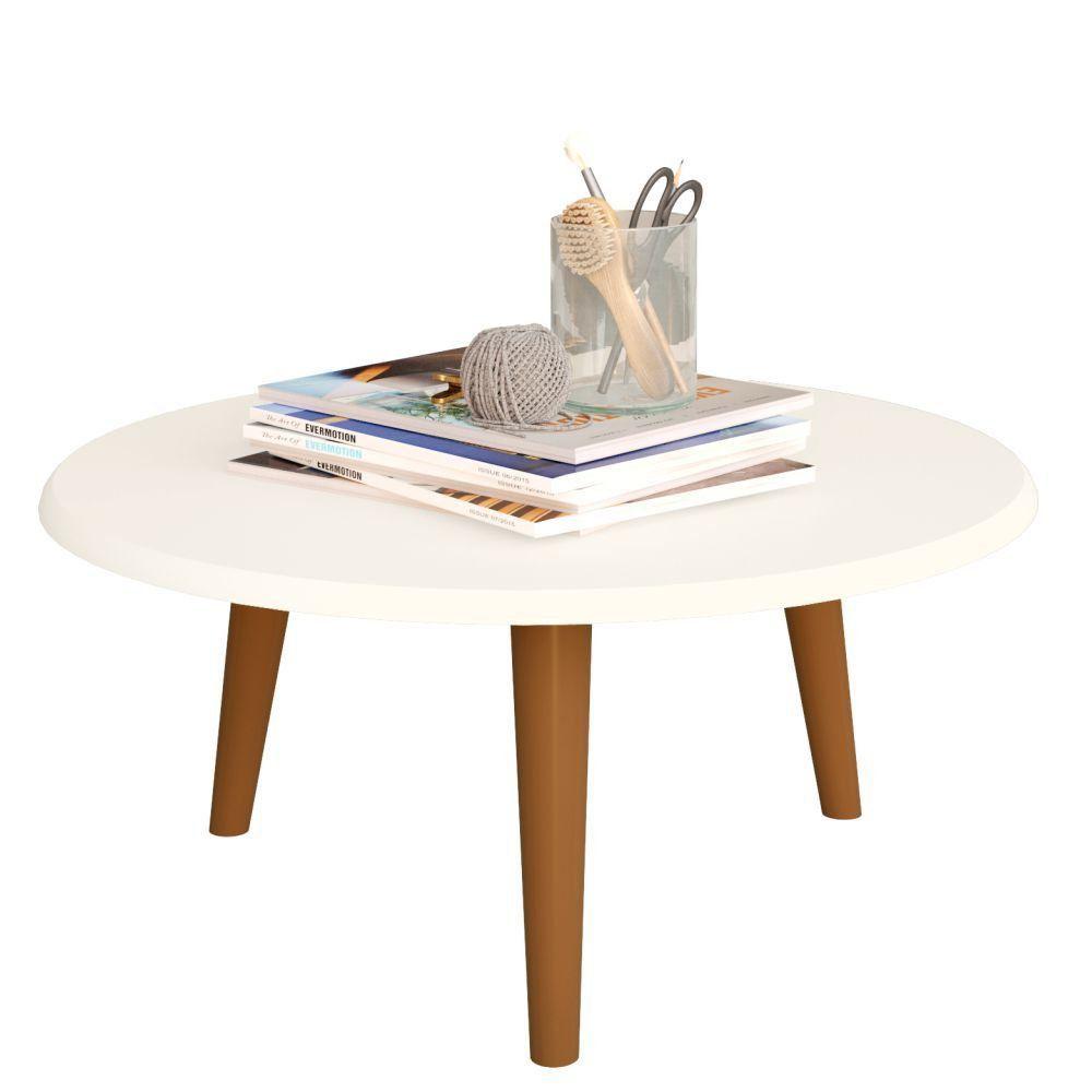 Mesa de Centro Decorativo B02 Off White Brilho - Lyam Decor