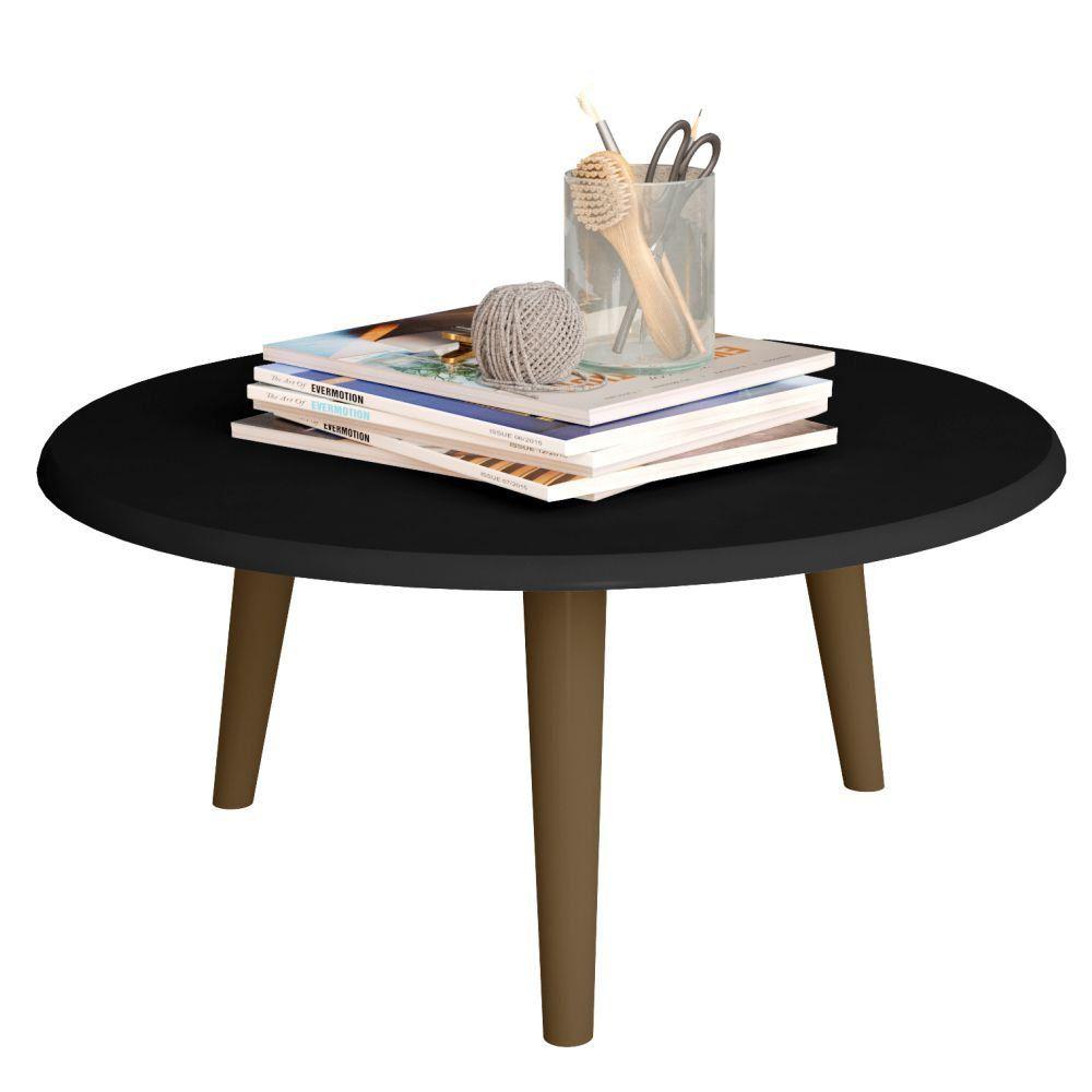 Mesa de Centro Decorativo B02 Preto Fosco - Lyam Decor