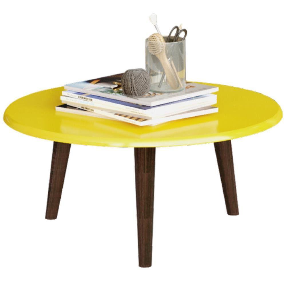 Mesa de Centro Decorativo B02 Amarelo Brilho - Lyam Decor