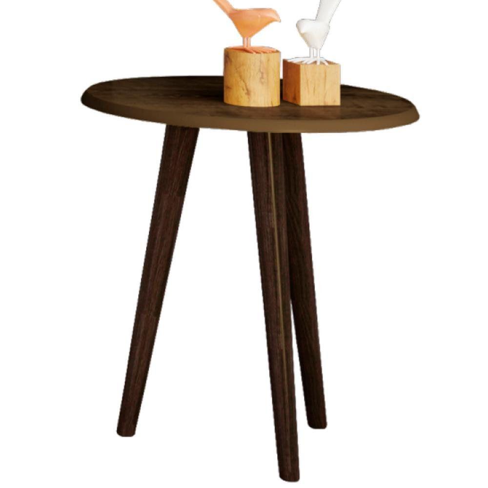Mesa de Canto Lateral B02 Decorativa Madeira Rústica - Lyam Decor