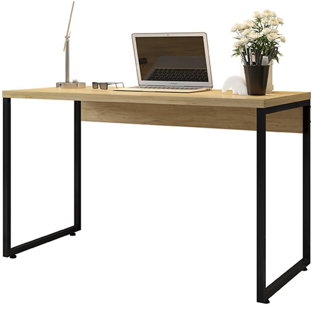 Mesa Para Escritório e Home Office Industrial Soft F01 Nature Fosco - Lyam Decor
