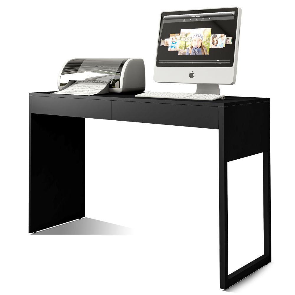 Mesa Para Escritório e Home Office Work F01 Preto Fosco - Lyam Decor