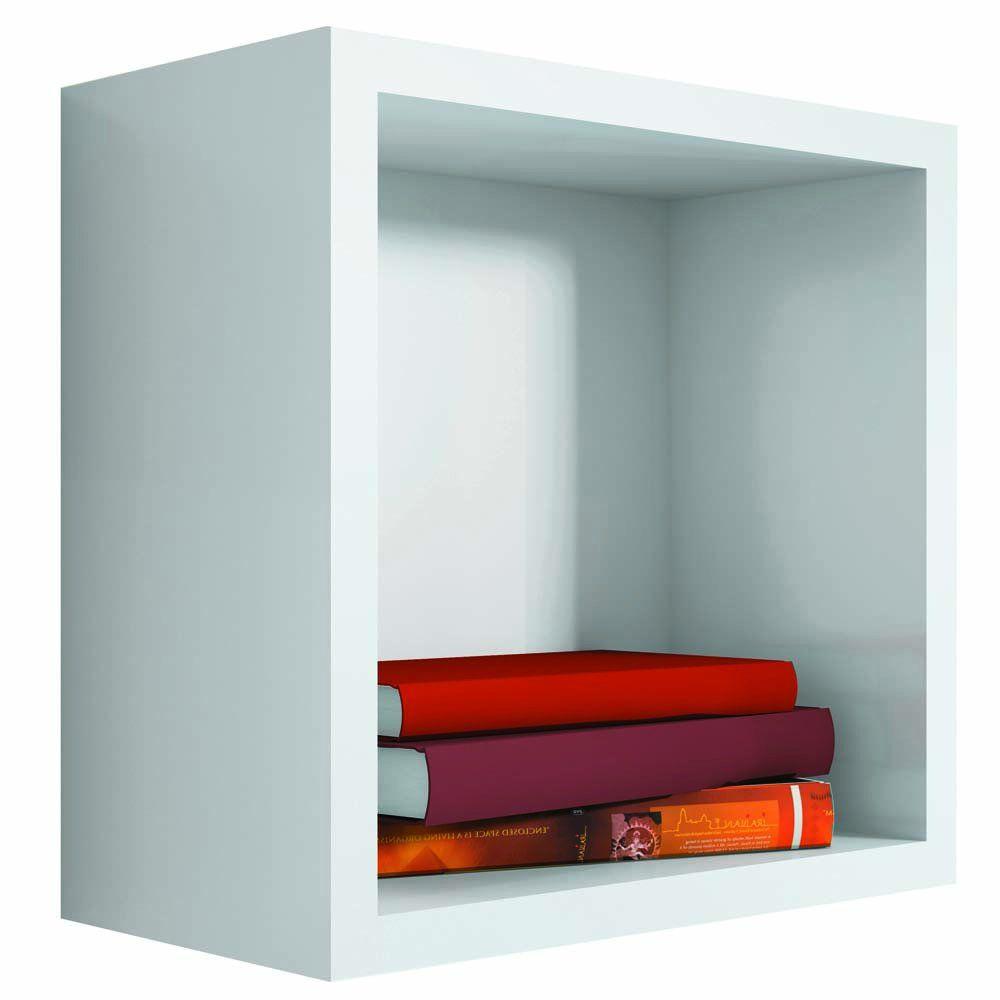 Nicho Quadrado Decorativo 31x31x15 S01 Branco - Lyam Decor