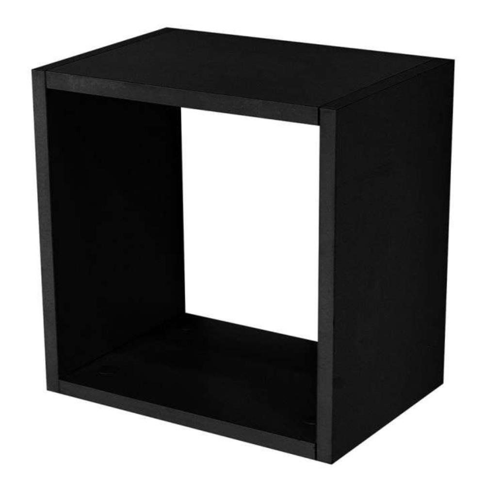 Nicho Quadrado Decorativo 31x31x15 S01 Preto Fosco - Lyam Decor