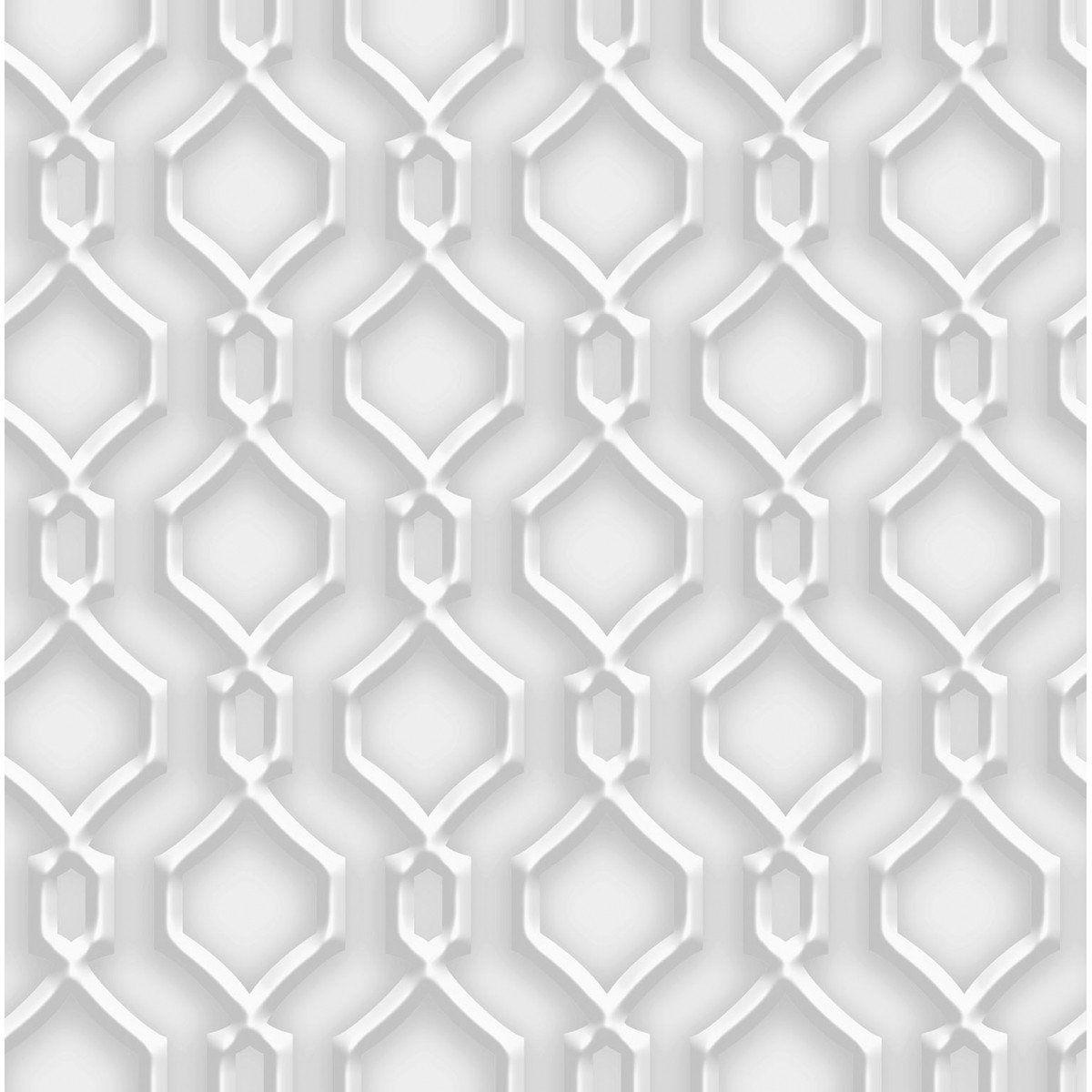 Papel de Parede Bobinex Coleção Dimensões Alhambra L01 Cinza 4709 - Lyam Decor