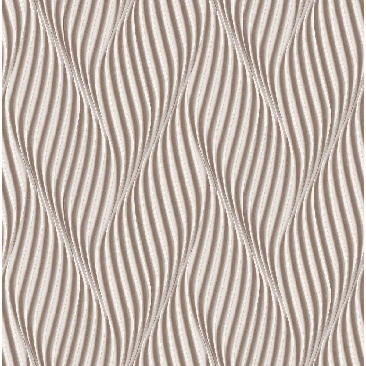 Papel de Parede Bobinex Coleção Dimensões Espiral Marrom L01 4704 - Lyam Decor