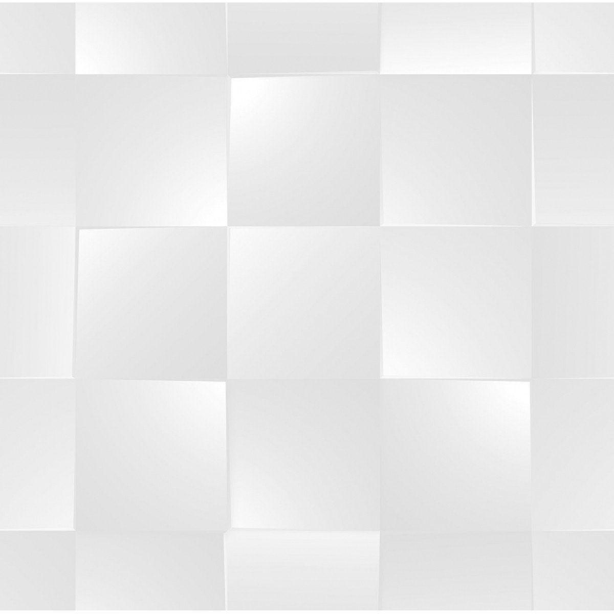 Papel de Parede Bobinex Coleção Dimensões Quadrado Cinza L01 4716 - Lyam Decor