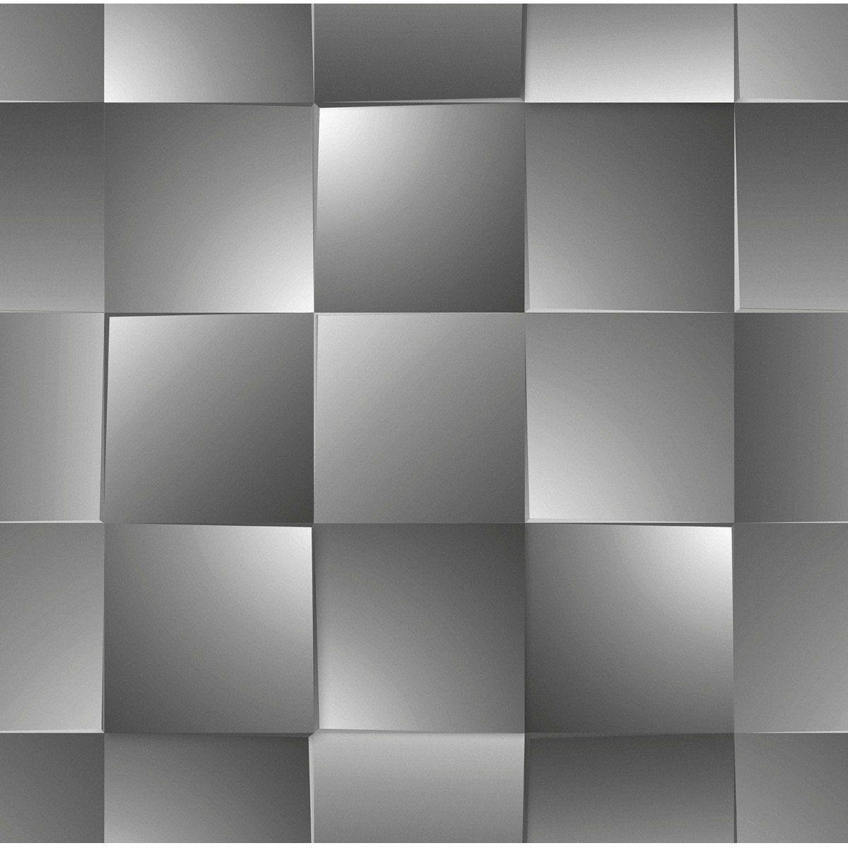 Papel de Parede Bobinex Coleção Dimensões Quadrado Preto L01 4717 - Lyam Decor