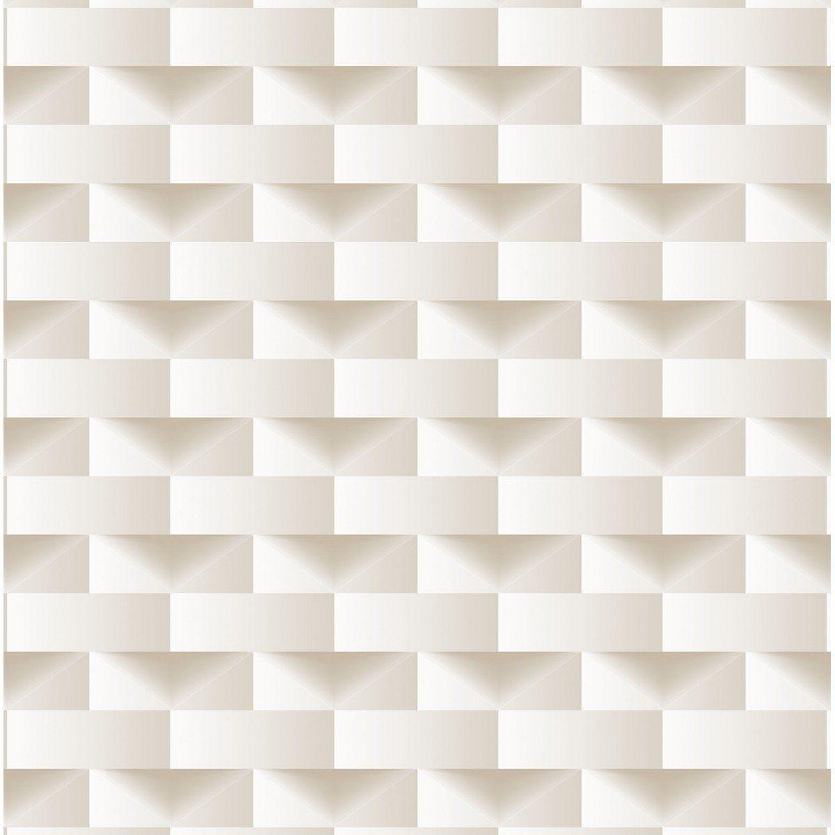 Papel de Parede Bobinex Coleção Dimensões Retângulo Bege L01 4701 - Lyam Decor