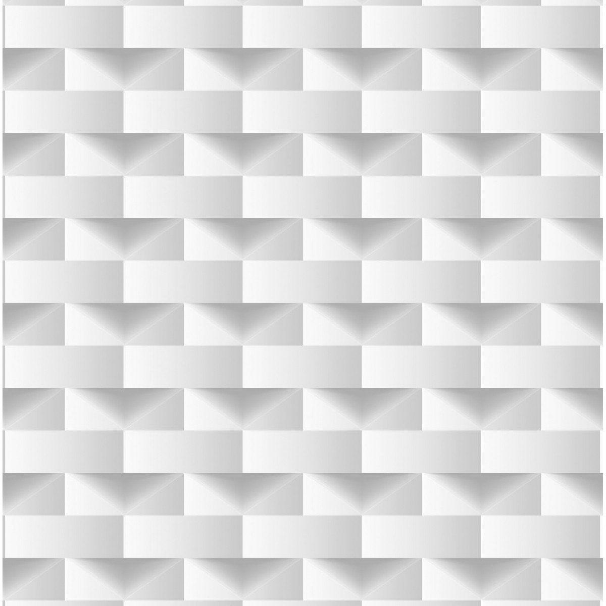 Papel de Parede Bobinex Coleção Dimensões Retângulo Cinza L01 4702 - Lyam Decor