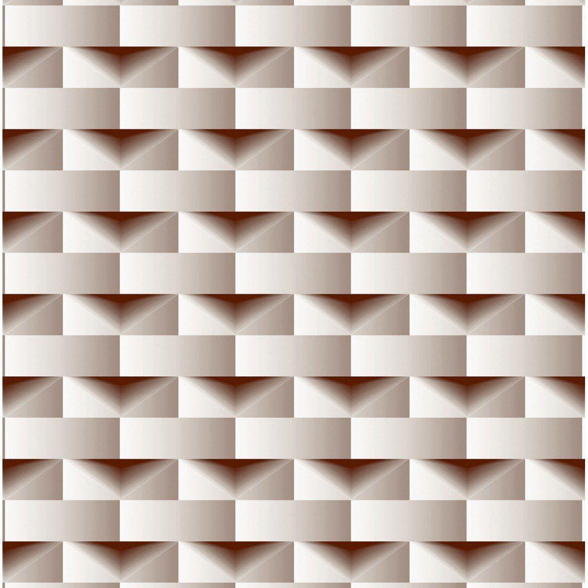 Papel de Parede Bobinex Coleção Dimensões Retângulo Marrom L01 4700 - Lyam Decor