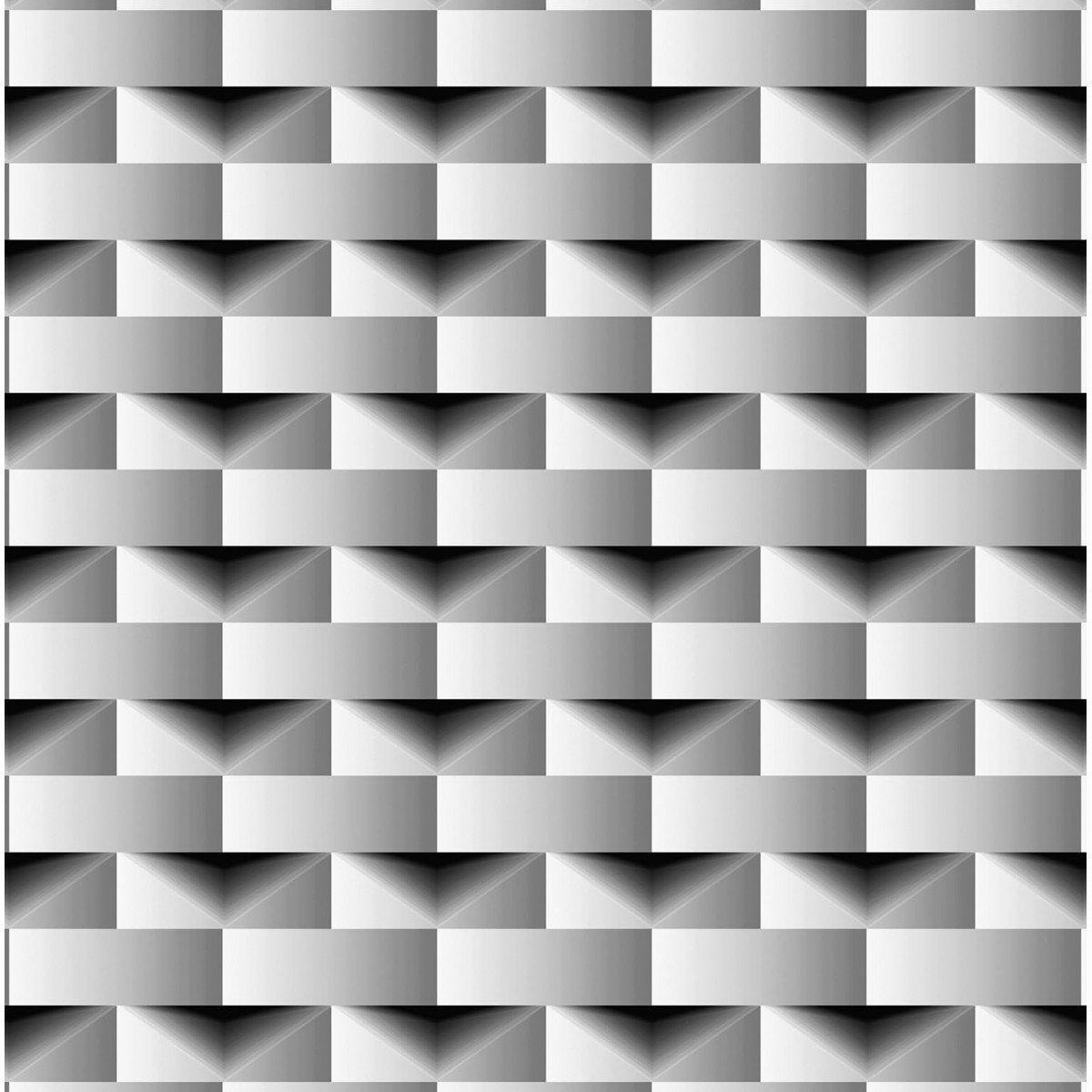Papel de Parede Bobinex Coleção Dimensões Retângulo Preto L01 4703 - Lyam Decor