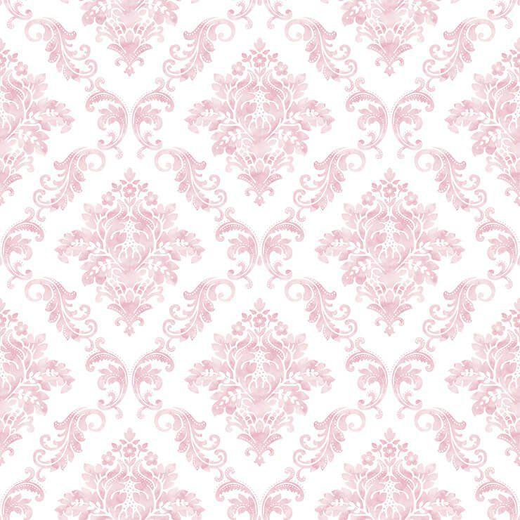 Papel de Parede Bobinex Coleção Renascer Damask Rosa L01 6249 - Lyam Decor
