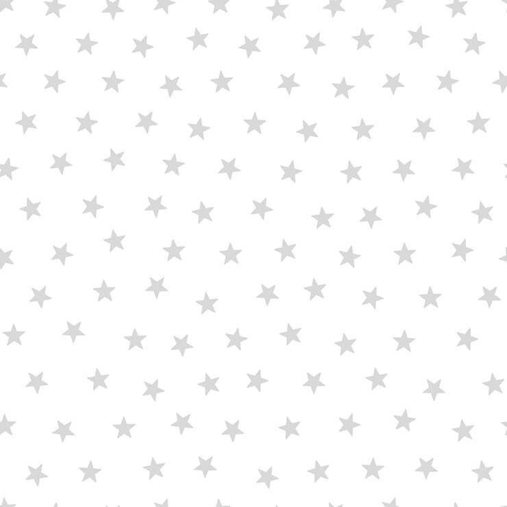 Papel de Parede Bobinex Coleção Renascer Estrela L01 Pequena Prata 6214 - Lyam Decor