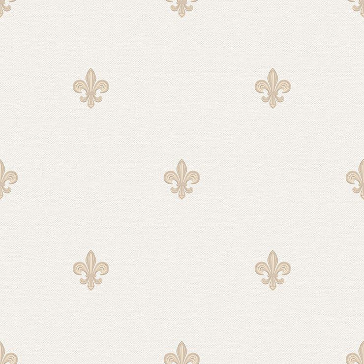Papel de Parede Bobinex Coleção Renascer Flor de Lis Bege L01 6231 - Lyam Decor