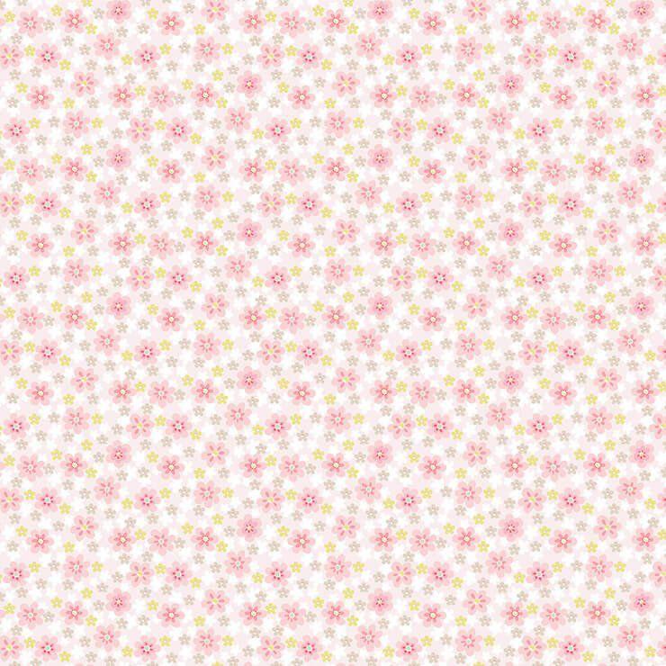 Papel de Parede Bobinex Coleção Renascer Florzinha Rosa com Bege L01 6253 - Lyam Decor