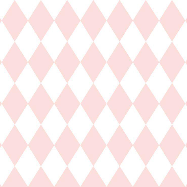 Papel de Parede Bobinex Coleção Renascer Losango Rosa L01 6240 - Lyam Decor