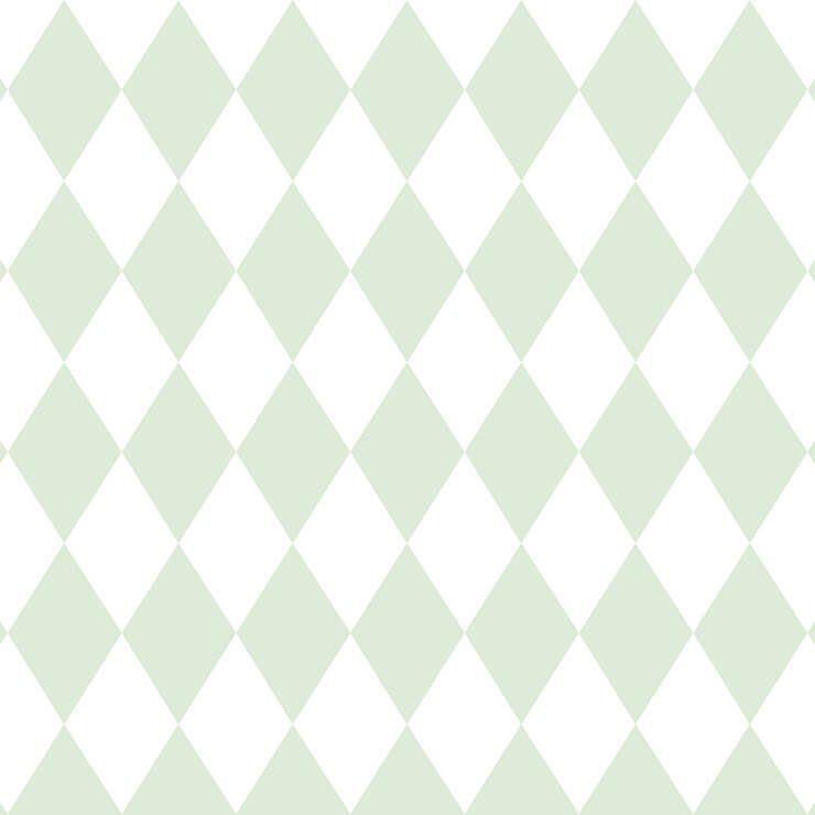 Papel de Parede Bobinex Coleção Renascer Losango Verde L01 6241 - Lyam Decor
